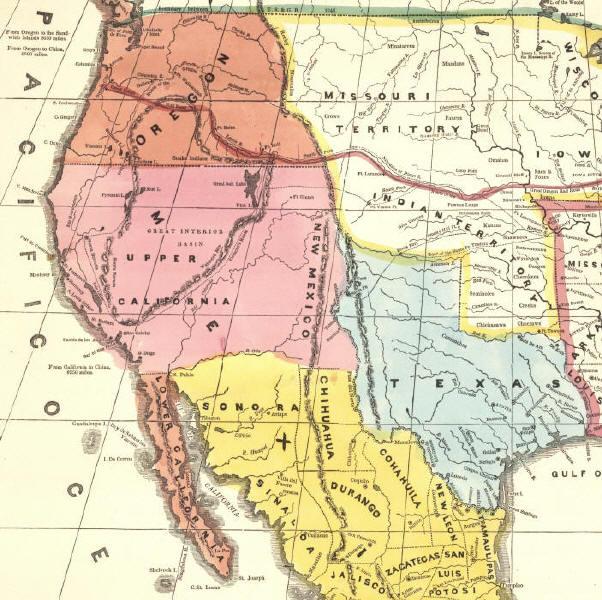Alta California Map Alta California Postal History to 1851